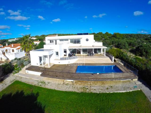 Beautiful modern, light, airy villa in Menorca
