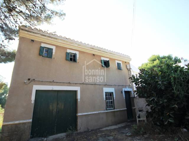 Semi Detached Farmhouse for Refurbishment in Llumesenas closr to Mahon