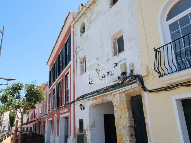 Building in the port of Mahón, Menorca