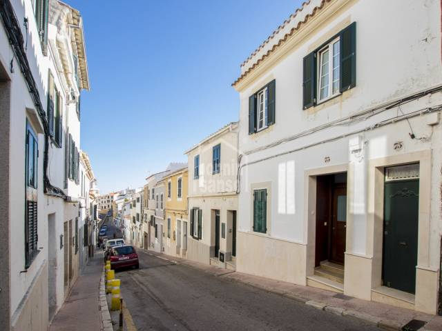 Delightful ground floor town house in Mahon, Menorca