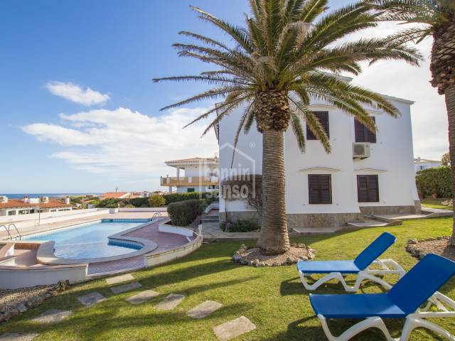 Ground floor apartment with sea views in Addaya, Menorca.