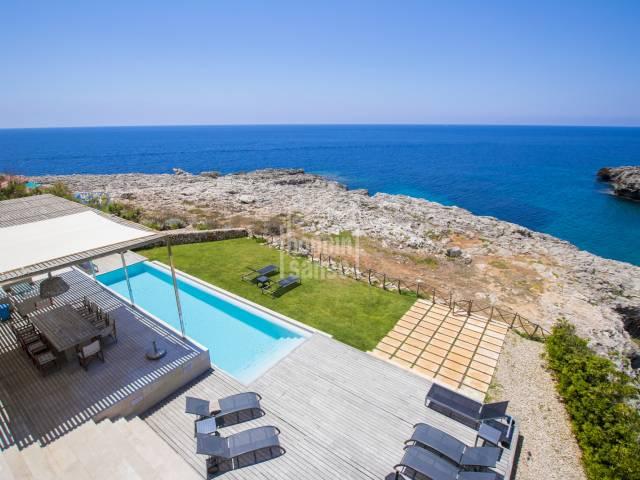 Modern front line property in Binibeca, Menorca