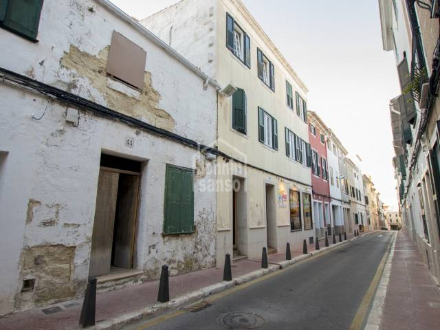 A semi-detached house in need of total refurbishment in Mahon, Menorca.