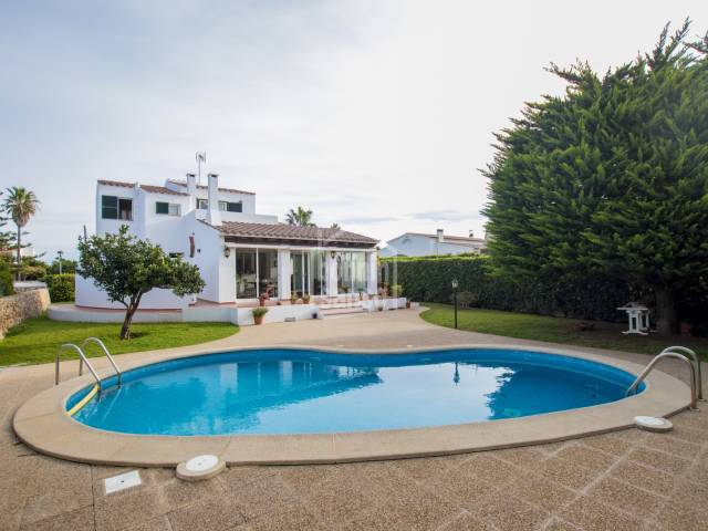 Immaculate villa, located in the prestigious urbanization of Sa Caleta, Ciutadella, Menorca