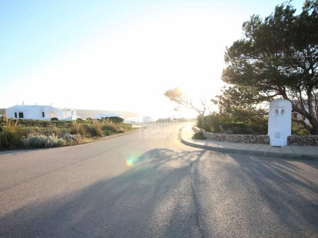 Solar con vistas al mar en Cala Morell