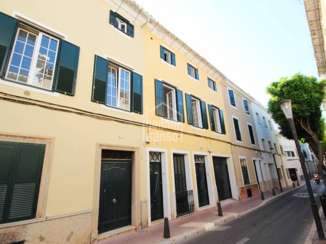 A large house divided into two properties close to the centre of Mahon, Menorca.