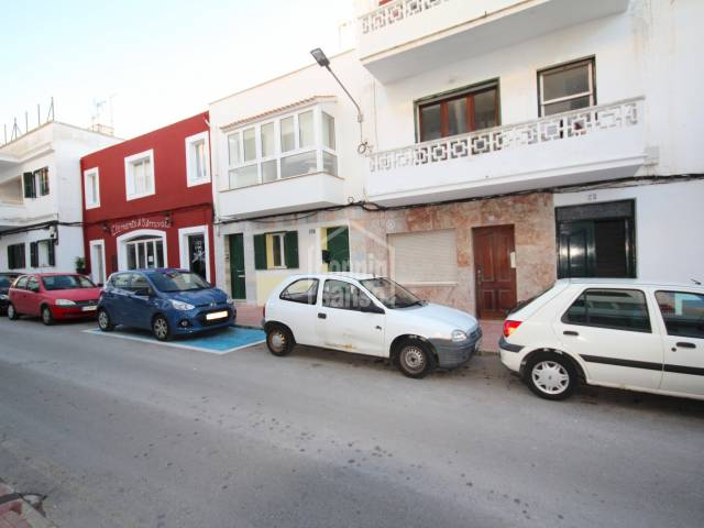 Ground floor apartment needing renovation in Es Castell, Menorca.
