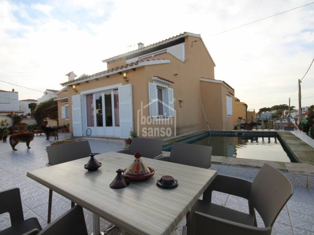 Lovely villa ideal size with some port views in Es Castell. Menorca