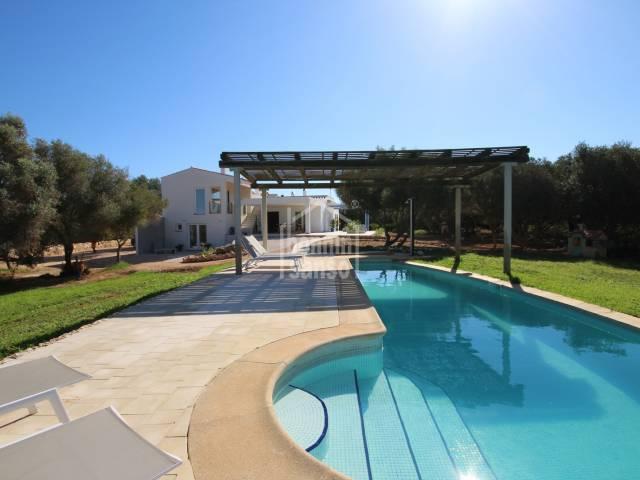 Bella e moderna casa in campagna vicino a Ciutadella, Minorca