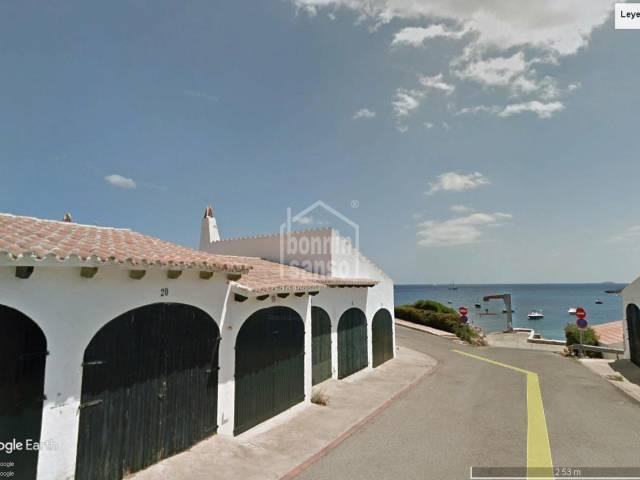 Garaje junta al mar en Cala Torret (Menorca)