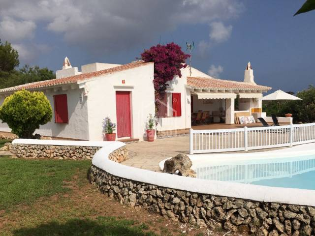 Villa of 4 bedrooms, just 200m from the beach of Biniparratx, Menorca