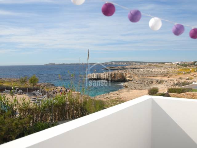 Apartment in seafront of Cala Blanca, Ciutadella, Menorca
