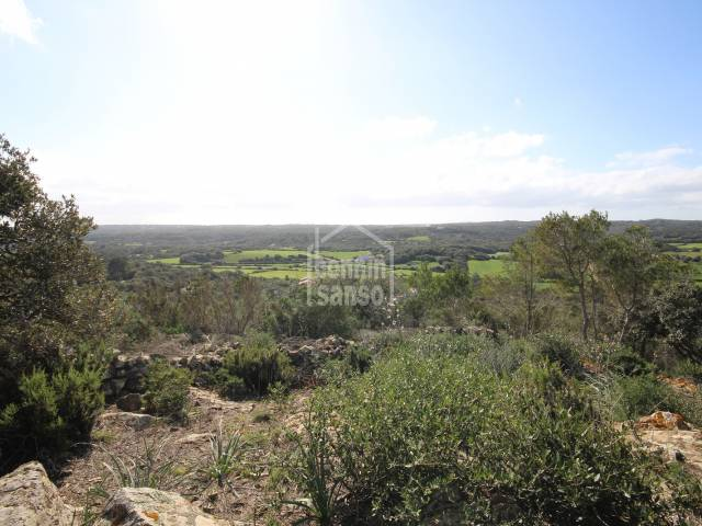 Building plot with spectacular views over the Menorquin countryside, Serra Morena Menorca