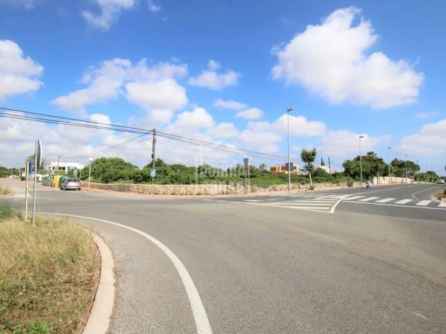 Corner building plot of land in fantastic location, Ciutadella, Menorca
