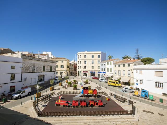 Attractive, second floor apartment overlooking the Bastion square in Mahon, Menorca