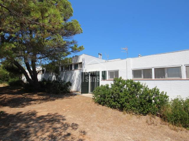 Cute townhouse a few metres from the beach of Macaret, Menorca.