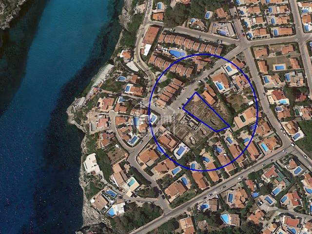 Plot of about 900 m² approximately situated on the south coast, Calan Porter, Menorca.