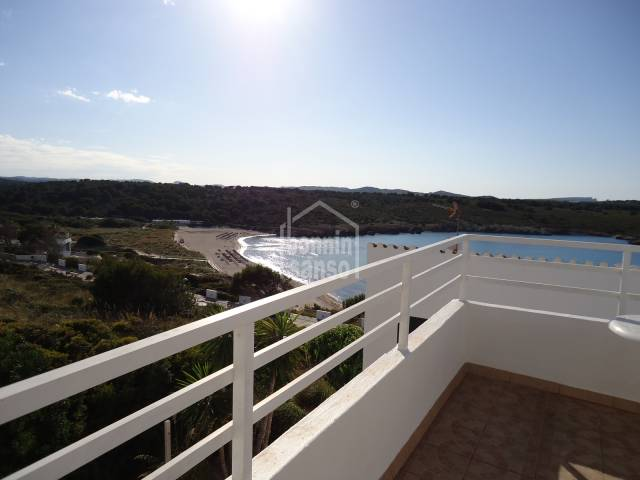Duplex with superb sea and beach views in Son Parc, Menorca.