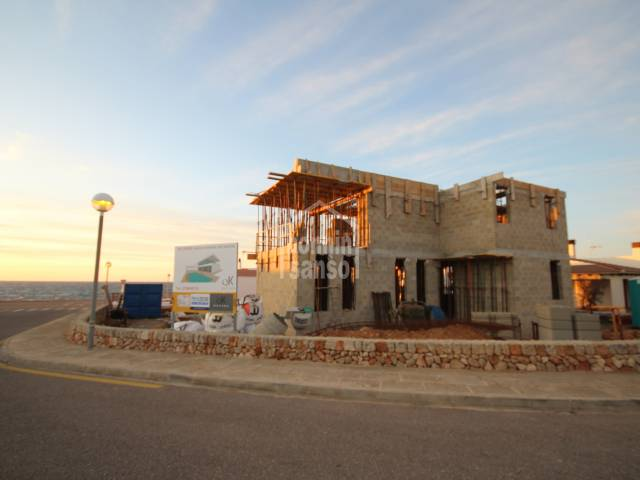 Chalet under construction in Cap d'Artruix, Ciutadella, Menorca