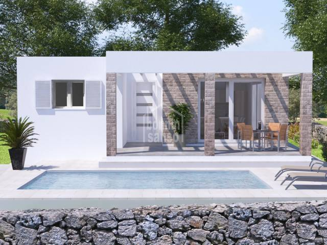 Plot with license and project for the construction of a modern villa near the beach of Calan Porter. Minorca