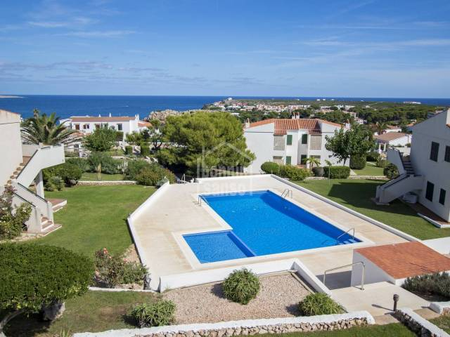 First floor apartment with private garden and community pool.  Arenal den Castell Menorca