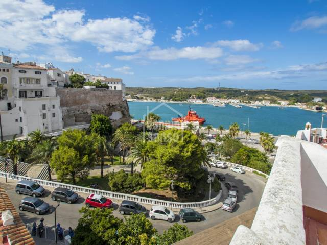 Large building with sea views in the historic centre of Mahón, Menorca.