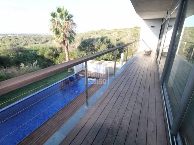 Modern and superb villa in Cala Llonga, Mahon Menorca.