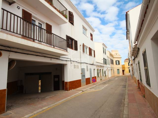 Parking space located on the outsides of the center of mahon, Menorca