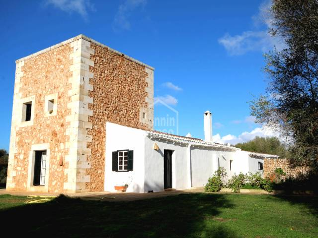 Front - Rustic estate with distant sea views Menorca