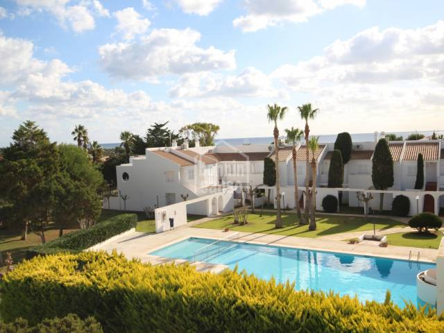 Apartment in a magnificent complex with 2 swimming pools, two steps from the beach in Son Xoriguer, Ciutadella, Menorca