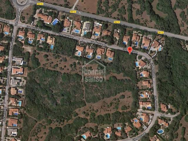 Building plot with basic project and license, in Binixica, Mahón, Menorca.