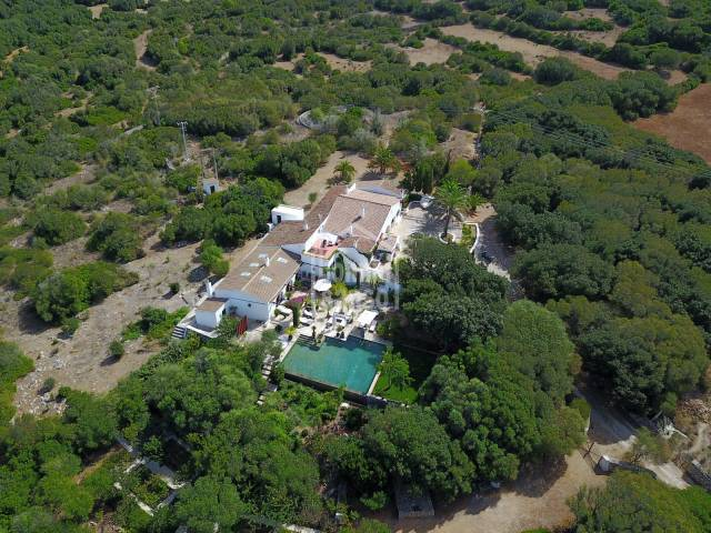Lovely Farmhouse on 58 hectares of land, a few minutes from the south coast of Menorca