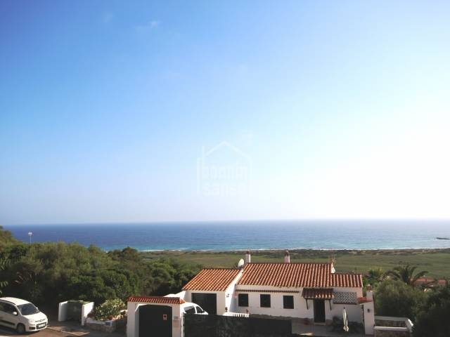 Sea views from this south facing apartment in Torre Soli Nou, Menorca