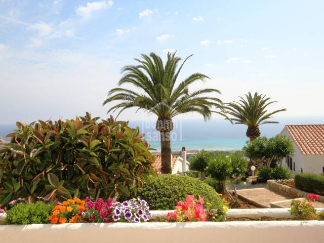 Incredible views of the south coast of Menorca from this beautiful Apartment in Son Bou, Menorca
