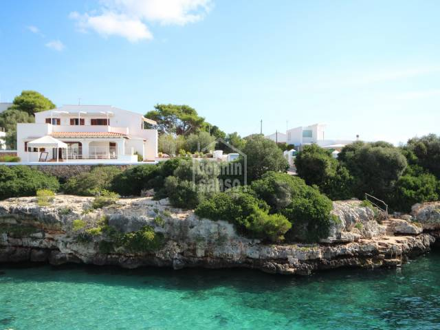 Front line villa with direct access to the sea, in Sa Farola, Ciudadela, Minorca.