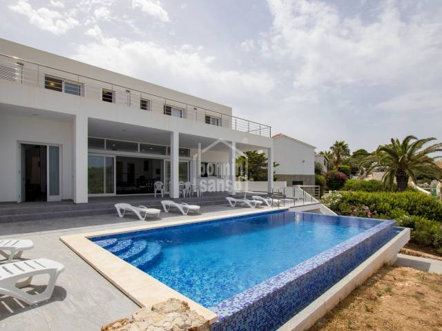 Newly build villa with sea and country views in Cala Canutells, Menorca