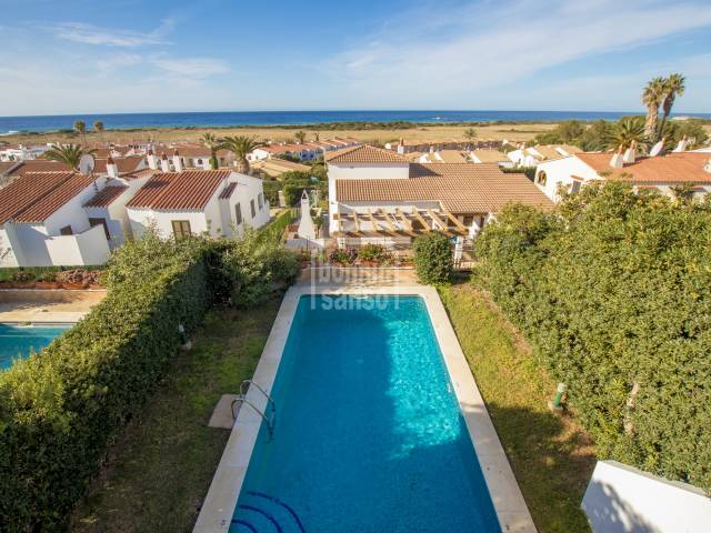 Semi-detached house with a tourist license and sea views, Son Bou, Menorca.