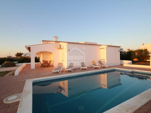 Front line villa in Cap d'Artrutx Menorca