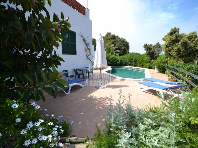 Large semi-detached villa with private pool in Cala Galdana, Ferrerias, Minorca