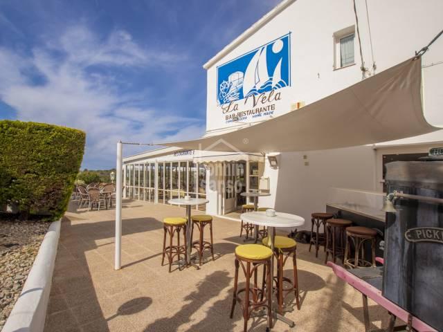 Restaurant LA VElA, as a going concern in Calan Porter, Menorca.