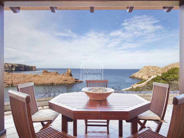 Spectacular villa enjoying breathtaking views of the bay of Cala Morell, Ciutadella, Menorca