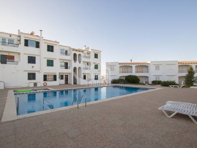 Two bedroom apartment with pool in Calan Porter, Menorca.