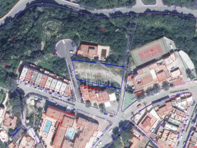 Plot of 911m² in Calan Porter, Menorca