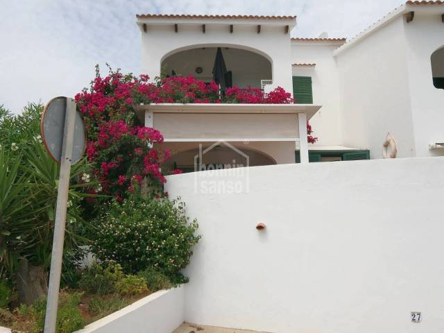 Attractive apartment in a well maintained complex with community pool and sea views, in Addaya, Menorca
