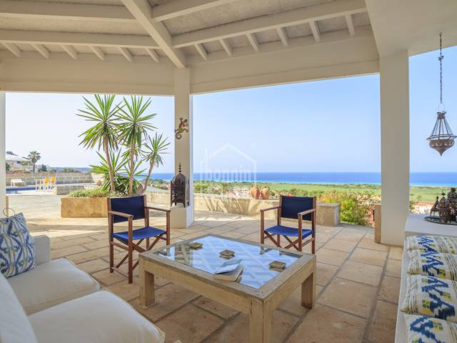 Splendid villa with views over the sea in Torre Soli Nou, on the south coast of Menorca