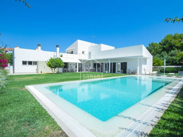 Magnificent modern villa in the exclusive area of La Caleta, Ciutadella, Menorca