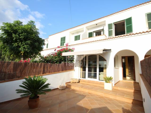 Front, Terrace - Charming villa with garage in Son Oleo, Ciutadella, Menorca