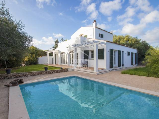Farmhouse with swimming pool in Trebaluger, Menorca.