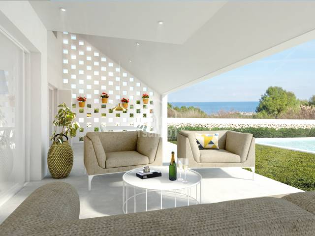 Avant-garde villa with sea views in Coves Noves, Menorca