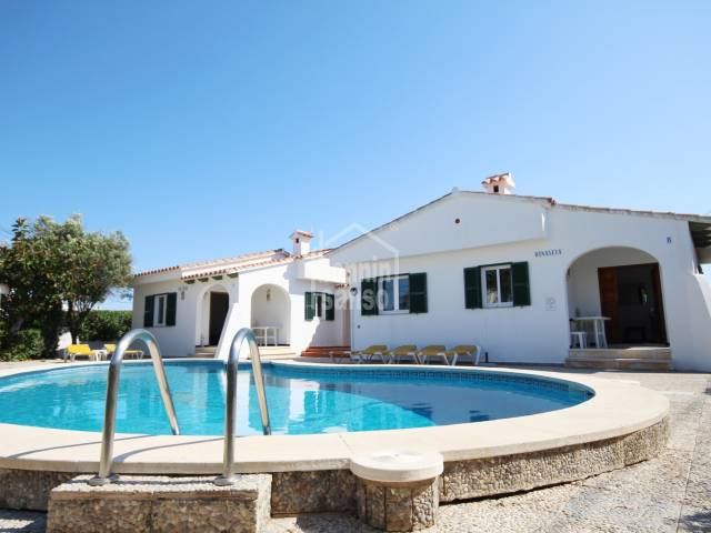 2 Identical Villas in the Centre of Calan Porter for sale.